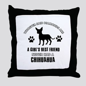 Chihuahua Mommy designs Throw Pillow