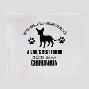 Chihuahua Mommy designs Throw Blanket