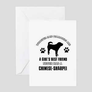 Chinese Sharpei Mommy designs Greeting Card