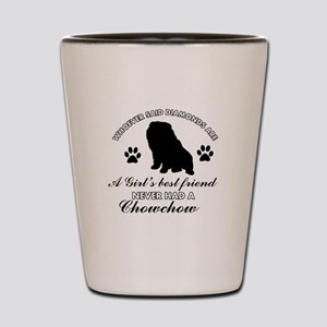 Chow Chow Mommy designs Shot Glass