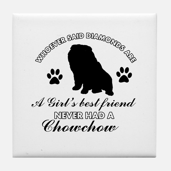 Chow Chow Mommy designs Tile Coaster