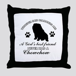 Chow Chow Mommy designs Throw Pillow