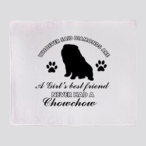 Chow Chow Mommy designs Throw Blanket