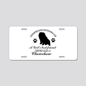 Chow Chow Mommy designs Aluminum License Plate