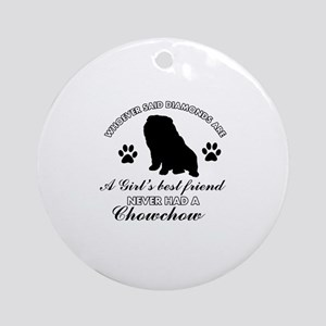 Chow Chow Mommy designs Ornament (Round)