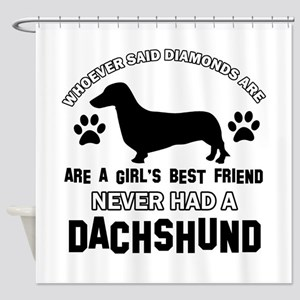Daschund Mommy designs Shower Curtain