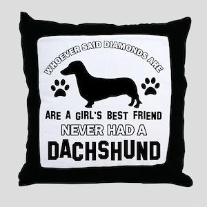 Daschund Mommy designs Throw Pillow