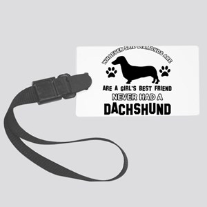 Daschund Mommy designs Large Luggage Tag