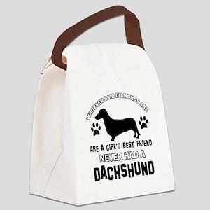 Daschund Mommy designs Canvas Lunch Bag
