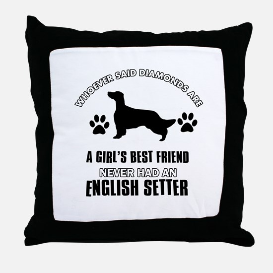 English Setter Mommy designs Throw Pillow
