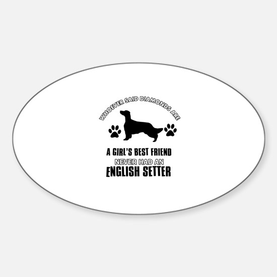 English Setter Mommy designs Sticker (Oval)