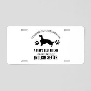 English Setter Mommy designs Aluminum License Plat