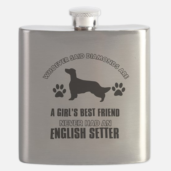 English Setter Mommy designs Flask