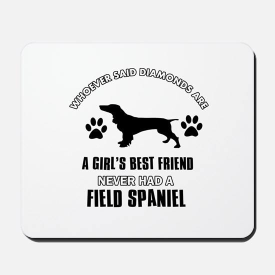 Field Spaniel Mommy designs Mousepad