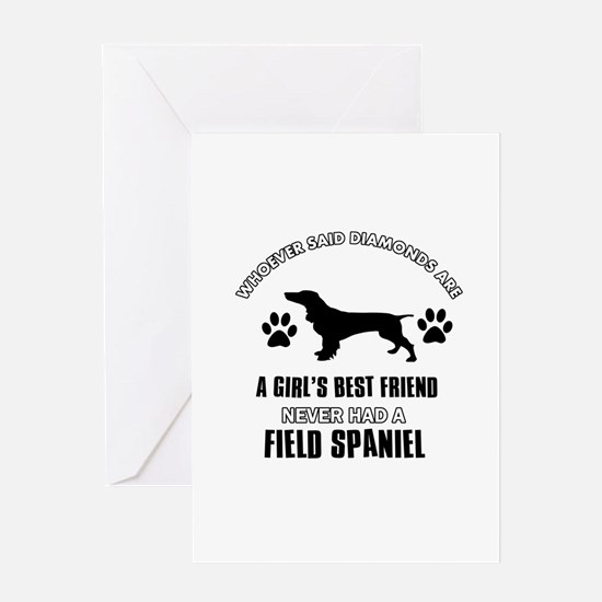 Field Spaniel Mommy designs Greeting Card