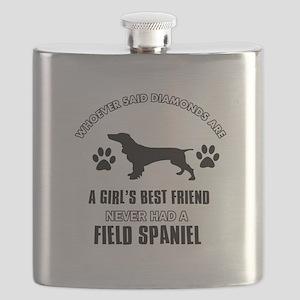Field Spaniel Mommy designs Flask