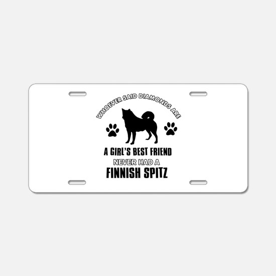 Finnish Spitz Mommy designs Aluminum License Plate
