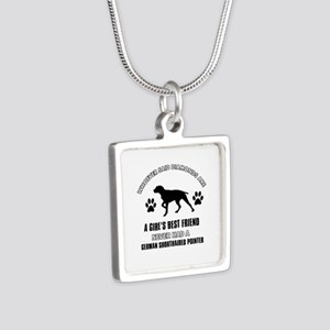 German Shorthaired Pointer Mommy designs Silver Sq