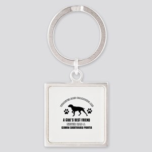 German Shorthaired Pointer Mommy designs Square Ke