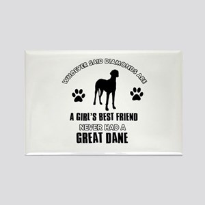 Great Dane Mommy designs Rectangle Magnet