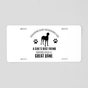 Great Dane Mommy designs Aluminum License Plate