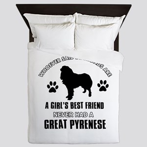 Great Pyrenese Mommy designs Queen Duvet