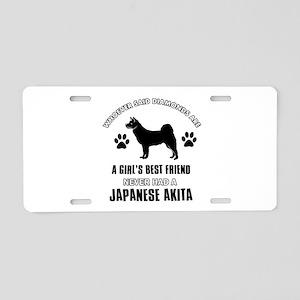 Japanese Akita Mommy designs Aluminum License Plat