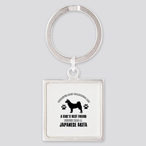 Japanese Akita Mommy designs Square Keychain