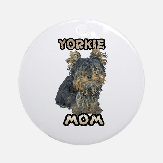Yorkshire Terrier Mom Ornament (Round)