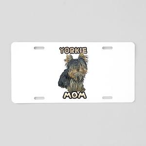 Yorkshire Terrier Mom Aluminum License Plate