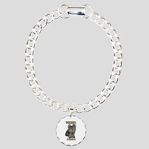 Yorkshire Terrier Mom Charm Bracelet, One Charm