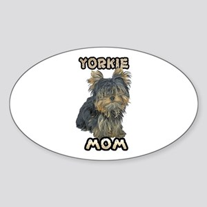 Yorkshire Terrier Mom Sticker (Oval)