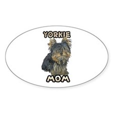 Yorkshire Terrier Mom Sticker (Oval)