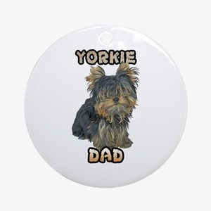 Yorkshire Terrier Dad Ornament (Round)