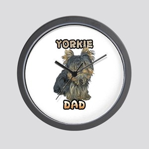 Yorkshire Terrier Dad Wall Clock