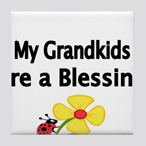 My Grandkids are a Blessing Tile Coaster