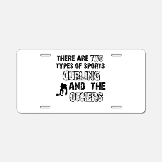 Curling designs Aluminum License Plate