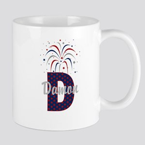 4th of July Fireworks letter D Mug