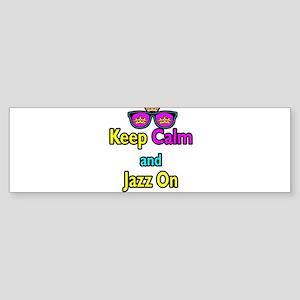 Crown Sunglasses Keep Calm And Jazz On Sticker (Bu