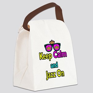 Crown Sunglasses Keep Calm And Jazz On Canvas Lunc