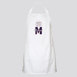 4th of July Fireworks letter M Apron