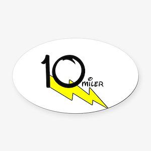 10 miles Oval Car Magnet
