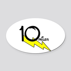 10 miles Oval Car Magnet