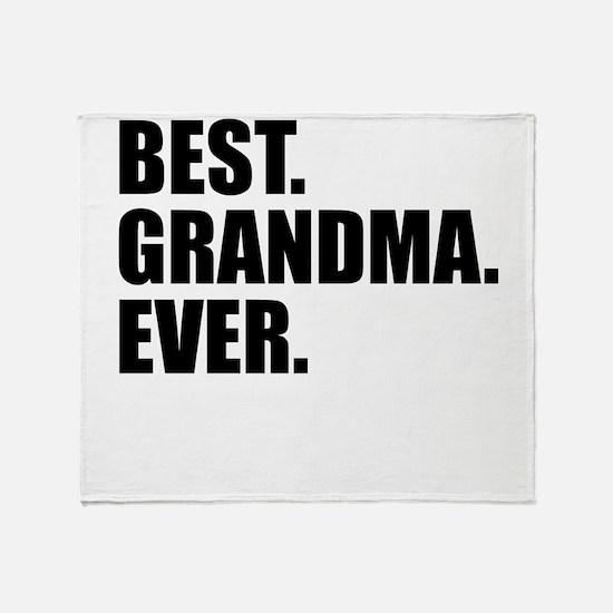 Best Grandma Ever Throw Blanket