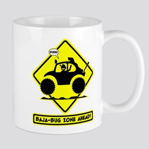 STICKMAN BAJA BUG road sign Mug