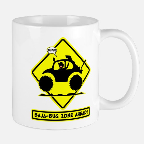 STICKMAN BAJA BUG road sign Mug