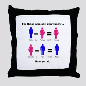 Now You Do Throw Pillow
