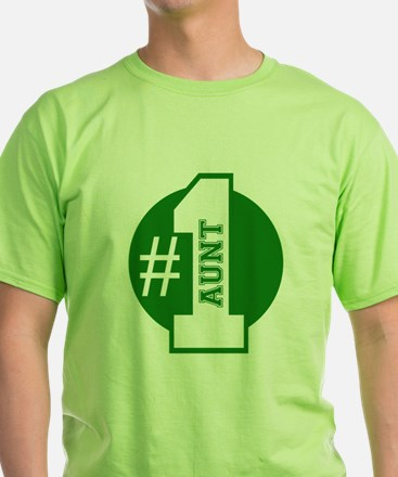 Number 1 Aunt (Green) T-Shirt