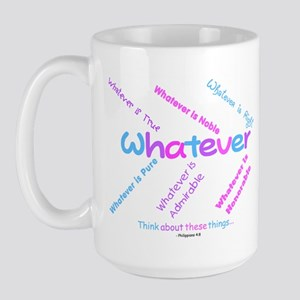 Whatever - Light Blue, Purple Large Mug