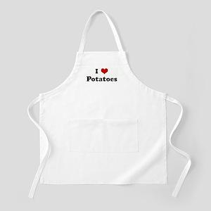 I Love Potatoes BBQ Apron